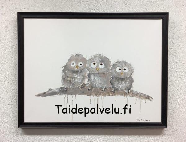 Ulla Kauhanen Pikkupöllöt kuva 1