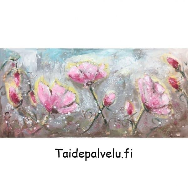 Ulla Kauhanen Pinkit kukat